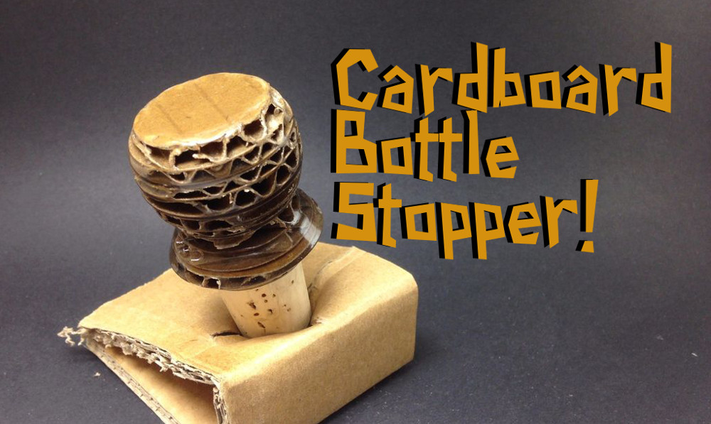 Turning The Cardboard Bottle Stopper