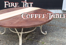 Reclaimed Fire Pit Transformed into Coffee Table