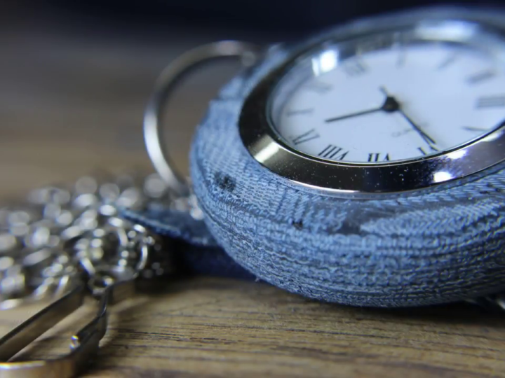 Blue Jean Pocket Watch